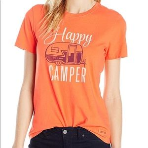 Life Is Good Womens Happy Camper Tee/ NWT/Size M